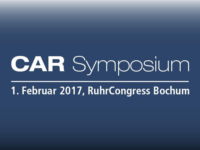Lecture by Prof. Dr. Jens Schaffer at the 17. CAR Symposium in Bochum » 01/02/17