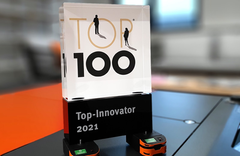 SAFELOG honoured as TOP 100 Innovator 2021