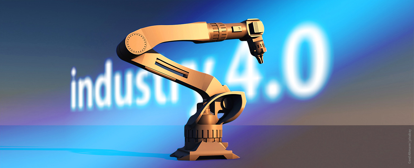 Robot arm + Industry 4.0 lettering